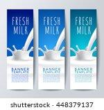 flavored milk banner template   ... | Shutterstock .eps vector #448379137