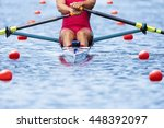competition rower front view... | Shutterstock . vector #448392097