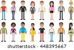 group of cartoon business... | Shutterstock .eps vector #448395667