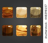 set of shiny wooden square...