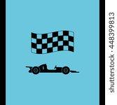 race car icon. | Shutterstock . vector #448399813