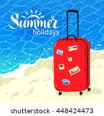 summer vacation illustration... | Shutterstock .eps vector #448424473