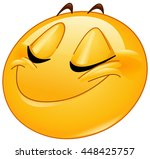 female emoticon smiling with... | Shutterstock .eps vector #448425757