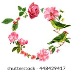 Vintage Style Floral Wreath...