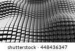 metal background abstract waves ... | Shutterstock . vector #448436347