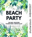 bright hawaiian design with... | Shutterstock . vector #448440307