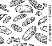 seamless pattern ingredients... | Shutterstock .eps vector #448462093