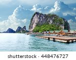 island scenery.seascape in... | Shutterstock . vector #448476727
