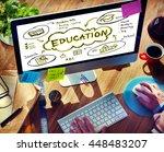education study learning... | Shutterstock . vector #448483207