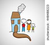 lovely family icon with house... | Shutterstock .eps vector #448488223