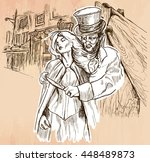 an hand drawn vector   jack the ... | Shutterstock .eps vector #448489873