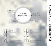 vector infographics with...   Shutterstock .eps vector #448494043
