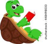 Happy Turtle Cartoon Reading...