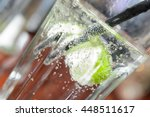 soda beverage with lime garnish | Shutterstock . vector #448511617
