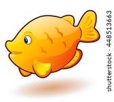 aquarium cartoon fish. vector... | Shutterstock .eps vector #448513663