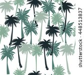 seamless pattern with palm... | Shutterstock .eps vector #448513837