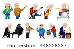 Vector Set Of Old Man Singing ...