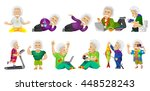 set of illustrations with old... | Shutterstock .eps vector #448528243