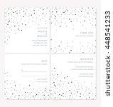 silver and black confetti... | Shutterstock .eps vector #448541233