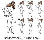 nurse women  pose variation | Shutterstock .eps vector #448541263