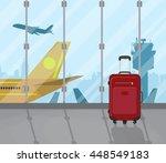 travel suitcases inside of... | Shutterstock .eps vector #448549183