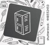 locker doodle | Shutterstock .eps vector #448552453