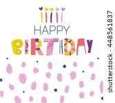 happy birthday typographic... | Shutterstock .eps vector #448561837
