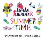 all for summer holidays. vector ... | Shutterstock .eps vector #448561867