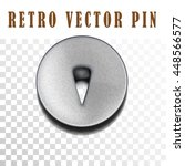 retro pushpin isolated on white.... | Shutterstock .eps vector #448566577