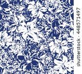 flower illustration pattern | Shutterstock .eps vector #448571497