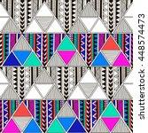 multicolor tribal navajo vector ... | Shutterstock .eps vector #448574473