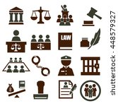 law icon set | Shutterstock .eps vector #448579327