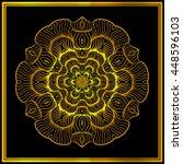 gold mandala. vector vintage... | Shutterstock .eps vector #448596103