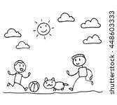 happy of family cartoon...   Shutterstock .eps vector #448603333