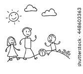 happy of family cartoon...   Shutterstock .eps vector #448603363