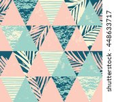trendy seamless exotic pattern... | Shutterstock .eps vector #448633717