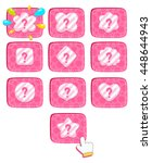 cartoon cute buttons for game...