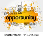 opportunity and success word... | Shutterstock .eps vector #448646653