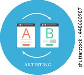 ab testing flat icon | Shutterstock .eps vector #448660987
