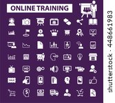 online training icons | Shutterstock .eps vector #448661983