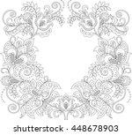 floral frame. floral decorative ... | Shutterstock .eps vector #448678903