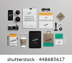 corporate identity template set ... | Shutterstock .eps vector #448685617