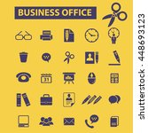 business office icons | Shutterstock .eps vector #448693123