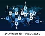 nanotechnology medicine concept ... | Shutterstock . vector #448705657
