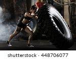 flipping in gym | Shutterstock . vector #448706077