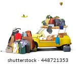 tourism and travel  a small... | Shutterstock . vector #448721353