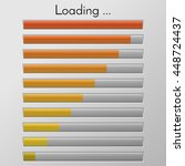 vector loading bar. progress of ... | Shutterstock .eps vector #448724437