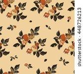 seamless cuban floral pattern... | Shutterstock .eps vector #448726213