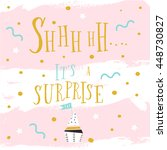 shhhhhh.... it's surprise ... | Shutterstock .eps vector #448730827