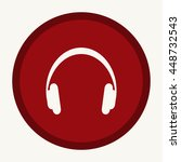 headphone icon | Shutterstock .eps vector #448732543